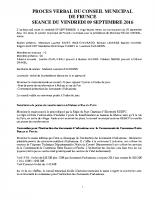 COMPTE RENDU 09 SEPT 16